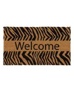 JVL- WELCOME ZEBRA LATEX COIR 40*70CM
