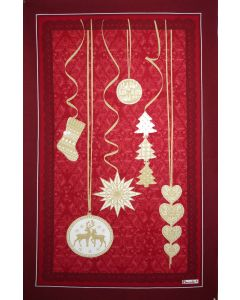 BEAUVILLE Red Christmas Kitchen / Tea Towel