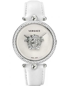 VERSACE Pallazo Empire White Leather Strap VCO010017