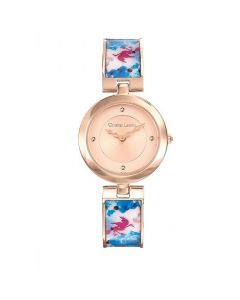 Christian Lacroix View printed blue steel woman Watch