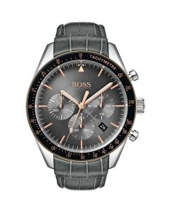 Hugo Boss Watch Mens Chronograph Quartz Watch with Leather Strap 1513628