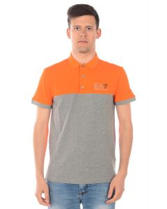 EMPORIO ARMANI- POLO SHIRT FOR MEN- ORANGE & GREY