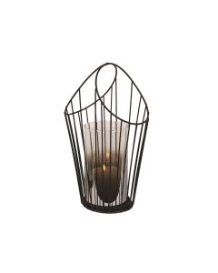 Black Wire Pillar Holder 32cm