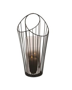 Black Wire Pillar Holder 39cm