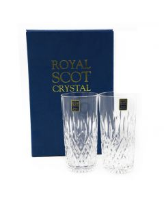 GIFT BOXED 2TALL TUMBLERS /12OZ,35CL/HIGHBALL SANDRINGHAM