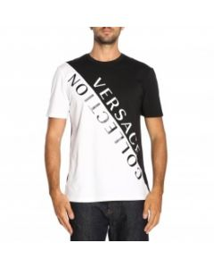 VERSACE COLLECTION BLACK & white T-SHIRT