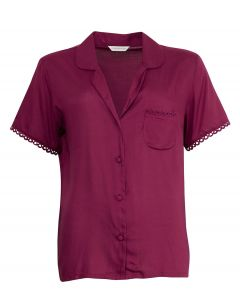 CYBER JAMMIES PRETTY IN PINK WOVEN SOLID MODAL SHORT SLEEVE TOP