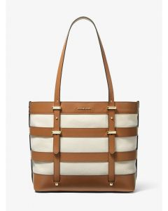 MICHAEL KORS Marie Large Canvas and Leather Tote