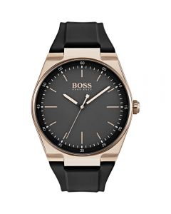 Hugo BOSS Unisex-Adult Analogue Classic Quartz Watch with Silicone Strap 1513566