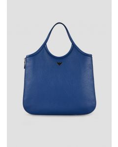 EMPORIO ARMANI  Hobo bag in hammered leather with side zips