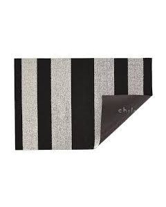 CHILEWICH BOLD STRIPE SHAG UTILITY BIG MAT 36*60 BLACK/ WHITE