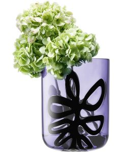 LSA International Zazou vase in Violet & Black