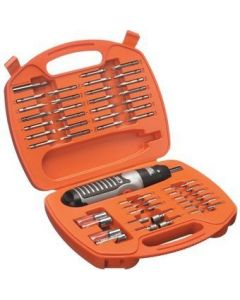 Black & Decker 54 Pieces Electric Screwdriver Set and Electric Screwdriver - A7071-XJ