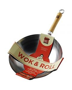 Wok and Roll Non-Stick Carbon Steel Round Bottom Wok