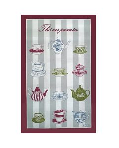 BEAUVILLE HAND SILK SCREEN TOWEL JASMINE TEA