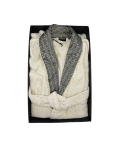 RC- PLATINUM BATHROBE SHAWL L/XL 810 BIANCO LANA