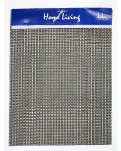 DUNLEVY SILVER/BROWN/BLACK WOVEN TABLE MAT 16*12