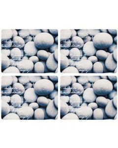 LADELLE RIVER STONE HADBOARD 4PK PLACEMAT
