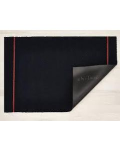 CHILEWICH SIMPLE STRIPE SHAG 24*72 NAVY/CORAL