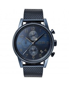 Hugo Boss  Watch with luminous hands and wristband in mesh look