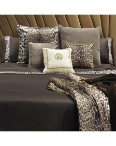 Roberto Cavalli Home Basic Duvet Set - Super King - Chocolate