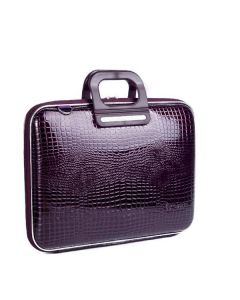 BOMBATA SORRENTO-COCCO BRIEFCASE 15 INCHES-SHINING violet