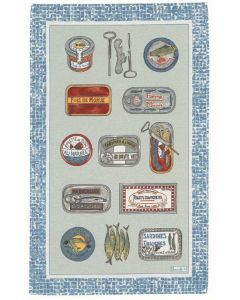 BEAUVILLE towel The Sardines 19.5 * 31.20 inches