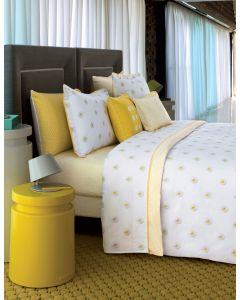 Yves Delorme Alafolie Jaune Fitted Sheet