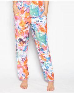 cyber jammies aimee abstract floral print pyjama pant