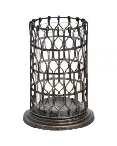 Hill Antique Bronze Large Decorative Candle Holder