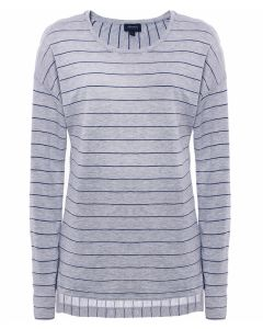 ARMANI JEANS Shimmer Stripe Long Sleeve Top