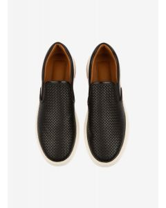BALLY- BLACK MOSIS-1/00 CALF EMBOSSED MEN SNEAKER