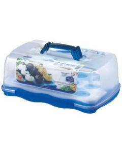 Lock and Lock 10 Litre Rectangular Cake Box With Removeable Cupcake Tray