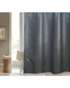 Washable Starlight Gloss Black Polyester Shower Curtain Blue Canyon Casa