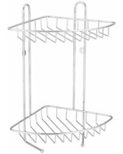BLUE CANYON WALL MOUNTABLE STAINLESS STEEL 2 TIER CORNER SHOWER CADDY