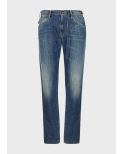 EMPORIO ARMANI  Regular-fit J45 jeans in right-hand comfort denim