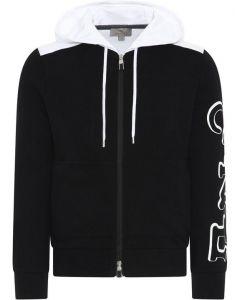 canali compos cotton jersey/hood  black/white