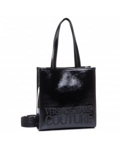 versace jean couture naplok macrologo white up handle bag