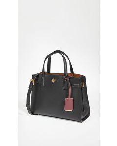 TORY BURCH- WALKER SMALL SATCHEL- BLACK