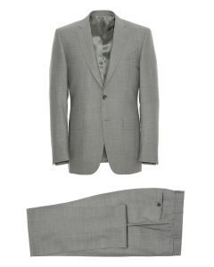 CANALI  Blue Venezia Slim-Fit Puppytooth Wool Suit Jacket