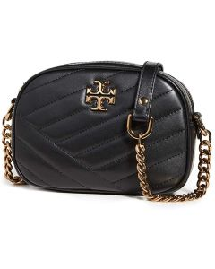 TORY BURCH-KIRA CHEVRON SMALL CAMERA BAG- GOLDFINCH