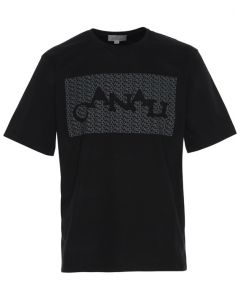 CANALI- BLACK COTTON T-SHIRT-