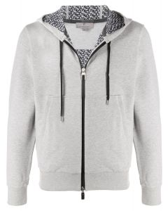Canali compos cotton jersey grey