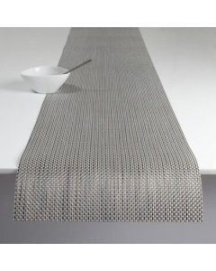 Chilewich Basketweave Table Runner-Oyster