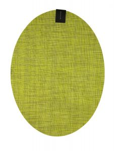 CHILEWICH MINIBASKET OVAL TABLE MAT 14*19- LEMON
