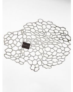 CHILEWICH PRESSED SEA LACE TABLE MAT- GUNMETAL