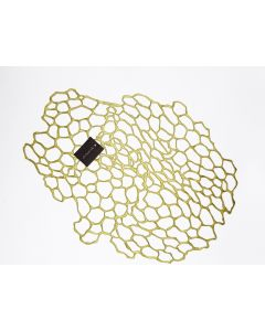 CHILEWICH PRESSED SEA LACE TABLE MAT BRASS