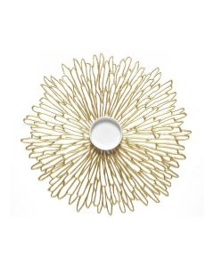 CHILEWICH PRESSED BLOOM TABLE MAT 14*19- GILDED