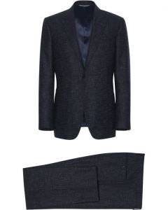 CANALI DARK BLUE LINED WOOL SUIT