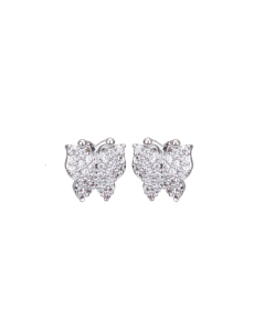 KEIRA WHITE GOLD PLATED AND CUBIC ZIRCONIA BUTTERFLY ANIMAL STUD EARRINGSKEIRA WHITE GOLD PLATED AND CUBIC ZIRCONIA BUTTERFLY ANIMAL STUD EARRINGS